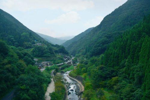 吊り橋からの景色