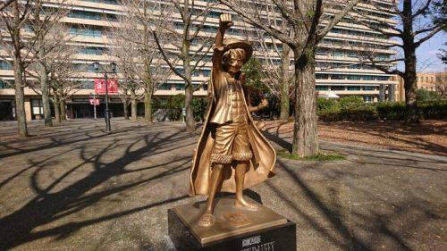 熊本ルフィ銅像