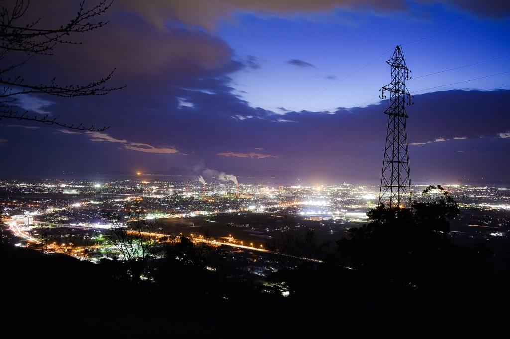 龍峯山自然公園 夜景