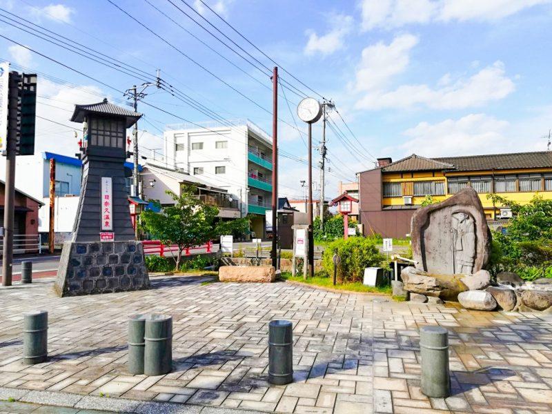 日奈久温泉街のくまモン